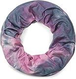 styleBREAKER Loop Schlauchschal mit Batik Muster, Vintage washed Look, Schal, Tuch, Unisex 01017041, Farbe:Rosa-Grau
