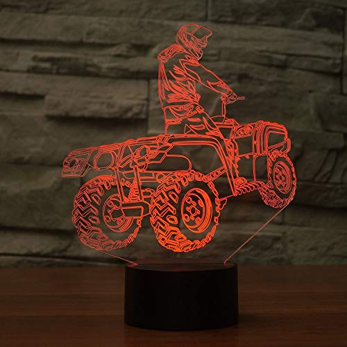 3D LED Creativo Cross-Country Moto Modeling Lampada da tavolo USB Home Decor 7 colori che cambiano All Terrain Vehicle Night Light