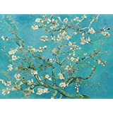 PRINTELLIGENT Van Gogh Painting - Almond Blossoms Paintings Unframed Digital Art Print On Canvas Size : 29 X 36 Inches