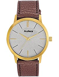 Austere Embassy Analog White Dial Men's Watch - Meb-0109G