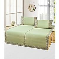 Preisvergleich für Doppelseitige Gebrauchsbett-Matte - Strohmatte 1.8M Bett Dreiteilige Baumwollspitze 1,5 m natürliche Sommer Faltbare Matten Dicker/Bambus Filz Matratze - natürlicher Bambus und Rattan Klappbett-Matte
