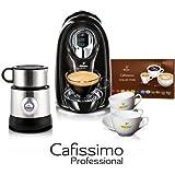 Tchibo Kaffeemaschine Cafissimo COMPACT Professional Black, Induktions Milchaufschäumer, 6 Kaffeetassen, 12 Kapseln, ideal als Büro Ausstattung