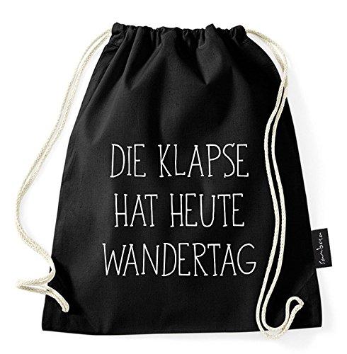Über 60 Sprüche & Designs auswählbar/Sambosa Turnbeutel mit Spruch/Beutel: Schwarz/Rucksack / Jutebeutel/Sportbeutel / Hipster, Bag:Klapse