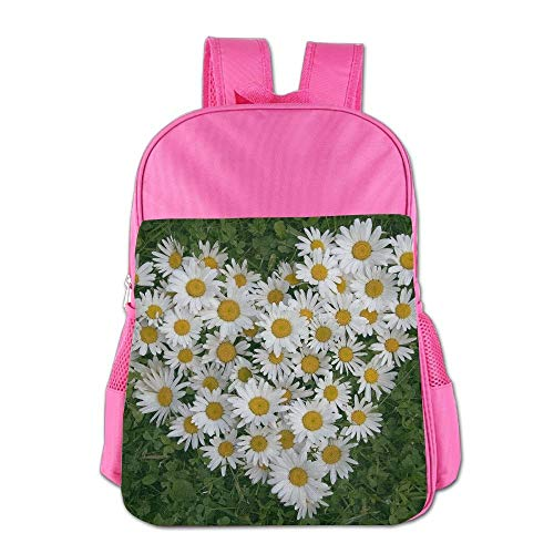 htrewtregregre Daisy Flower Schule Backpack Kinder Shoulder Daypack Kid Lunch Tote Taschen Pink -
