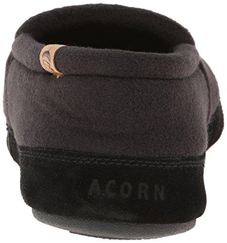 Acorn a10086Herren Moc (Tex/Polar) Slipper Schwarz