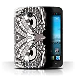 Stuff4 Phone Case/Cover for Huawei Ascend Y600 / Owl-Mono