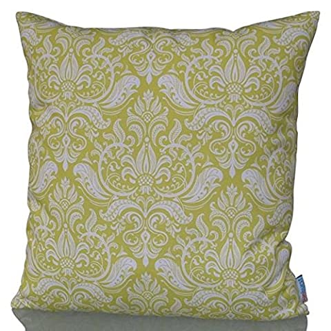 Sunburst Outdoor Living 60cm x 60cm INTENSE Yellow-White Decorative Throw Pillow Cushion Cover for Couch, Bed, Sofa or Patio - Only Case, No Insert