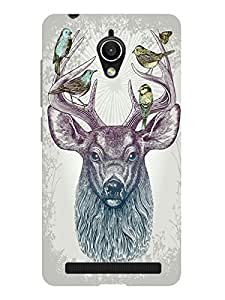 TREECASE Designer Printed Soft Silicone Back Case Cover For Asus Zenfone Go 5 inch ZC500TG