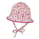 Sterntaler Fischerhut für Mädchen mit Bindebändern und Blümchenmuster, Alter: ab 6-9 Monate, Größe: 45, Mandelblüte