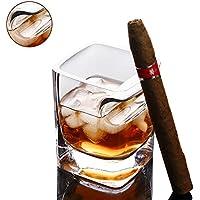 Forepin Verres à Whisky Verre en Cristal Verres Cocktails Ultra-clarté  320ML avec Support à c31a5ad80f9b