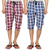 JOVEN Men's casual Asorted Three Fourth(...