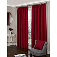 Universal TextilesParis Fully Lined Pencil Pleat Ribbed Curtains (66 x 90 (168cm x 229cm)) (Cranberry)