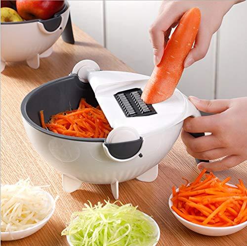 Dispositivo multifunción 9 en 1 para cortar alimentos, cortador de mandolina y...