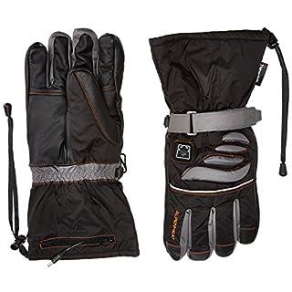 Alpenheat Beheizter Ski Snowboard oder Motorradhandschuh Skihandschuhe, Schwarz/Grau, XL