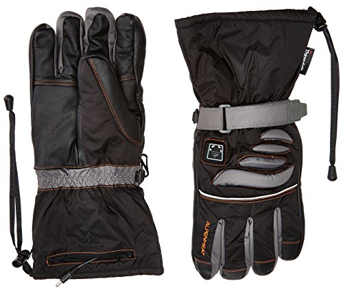 Alpenheat adultos de esquí climatizada guantes de motorista Negro negro Talla:xx-large