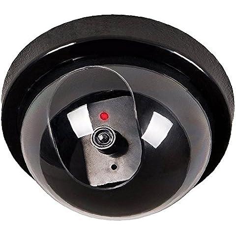 Camara falsa - TOOGOO(R)Negro circuito cerrado de television exterior e interior camara simulada falsa de seguridad de boveda con luz intermitente LED de luz roja