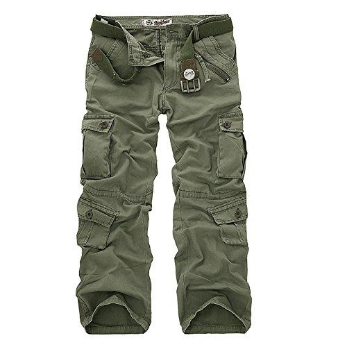 AYG Hombre Pantalón Militar Cargo Trousers(army green,30)