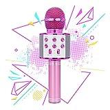 Regalo per bambini di 5-9 anni, ragazza di 7-11 anni Regalo per musica per bambini con microfono karaoke Bluetooth Regalo di compleanno per bambini di 4-12 anni Giocattolo per microfono di 6-10 anni