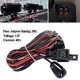 Lembeauty Universal Auto, Kabelbaum-Kit Loom für LED Driving Light Bar mit Sicherung und Schalter Relais 12V 40A