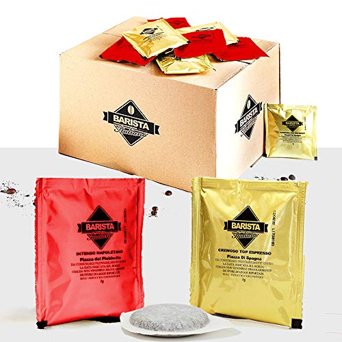 Barista Italiano 100 ESE Coffee Paper Pods 44mm (VARIETY PACK, 100 Sachets)