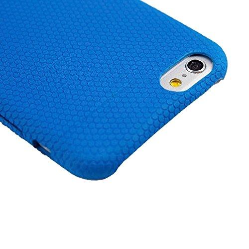 wkae Schutzhülle Case & Cover Fußball Textur Langlebig Weich TPU Schutzhülle aus Kunstleder für iPhone 6& 6S Blau