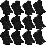 Rainbow Socken 12 paar Sneaker BAMBUSSOCKEN by Antibakteriell, Atmend, Weich und Bequem KURZE Socken aus Bambus MULTIPACK| SCHWARZ Größen 39-41, Herstellung in Europa