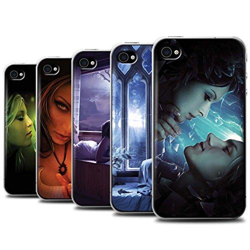 Officiel Elena Dudina Coque / Etui pour Apple iPhone 4/4S / Diamants congelés Design / Art Amour Collection Pack 7pcs