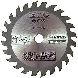 Lame de scie circulaire 85mm de diamètre x 10mm alésage X 24T Coupe de bois