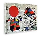 GIALLO BUS - BILD - DRUCK AUF LEINWAND - JOAN MIRO - IL SORRISO DALLE ALI FIAMMEGGIANTI - 70 x 100 CM