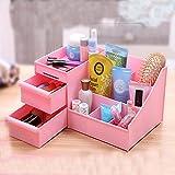 Women Makeup Case Plastic Drawer Household Category Storage Box Cosmetic Desktop , purple