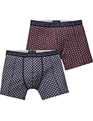 Scotch & Soda Classic Short In Grey Melange Quality with All-Over Print, Boxer Homme