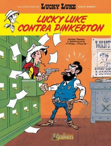 Portada del libro Lucky Luke contra Pinkerton / Lucky Luke against Pinkerton (Spanish Edition) by Achde, Benacquista, Pennac (2010) Hardcover