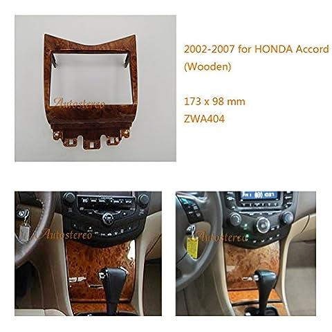 Autostereo 11–404Adaptateur de façade d'autoradio 2DIN en bois pour Honda