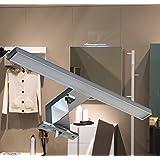 LED Aufbauleuchte / Chrom / Lichtfarbe warm weiß / Art. 2030 / Schrankleuchte / Spiegelschrankbeleuchtung / Spiegelleuchte / Badleuchte
