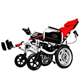 Y-L Anziani Disabili Elettrici Anziani Disabili Sedia a Rotelle Intelligente Automatico Pieghevole Leggero Disabili Portatile Ultra Leggero Scooter per Anziani, Rosso, Rosso