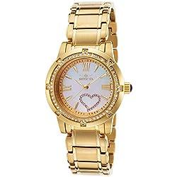 Invicta de las mujeres 36mm chapado en oro pulsera acero inoxidable. S. Mop Dial analógico reloj de cuarzo de zafiro 18605