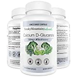 Calcium D-Glucarat 500mg 90 Vegan Kapseln (drei Monate Vorrat) für Leber Detox, Hormon-Balance, Gewichtsverlust, Cholesterin, Prostata, Stoffwechsel, Menopause. Non-GMO, Soja-frei, Gluten-frei