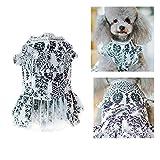 MMGN Süßes Drucken im Landhausstil Hundekleid mit Fliege Kleidung Sommerkleid Hemden,White,S