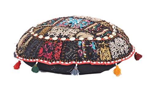 Antik bequem Boden Baumwolle Fuß Hocker handgefertigt Patchwork osmanischen Pouf Abdeckung