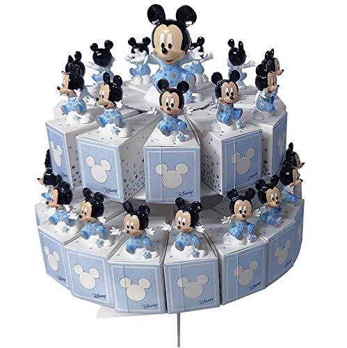 Cartoon world bomboniera torta con 29 scatoline portaconfetti piu statuine disney topolino