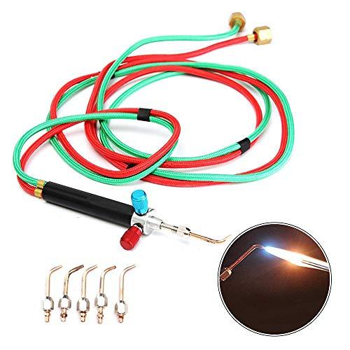 CX TECH Schmuck Micro Mini Schweißbrenner Gun Gas und Sauerstoff Acetylen Propan Lötbrenner Lötwerkzeug Kit -