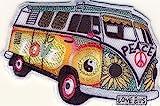 Hippie Bus - Bully - Love Peace - Aufnäher Aufbügler