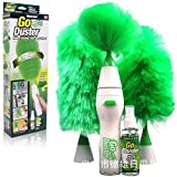 #9: 247tecksouk® Creative Hand-held Go Duster Electric feather spin Home Duster Electronic Motorized Cleaning Brush three different size feathers Dusting heads and Dusting Spray included