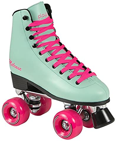 Playlife Melrose Deluxe Patins à roulettes Disco Roller Turquoise, türkis-pink, 41