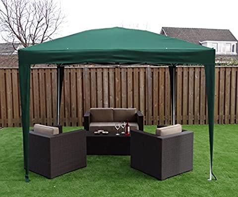 Foldable Gazebo Pavilion Party Tent | 300 x 300 cm | Square | Green | SORARA | 16 kg (UV 50+)| Event Outdoor Camping Garden Shelter Easy Up