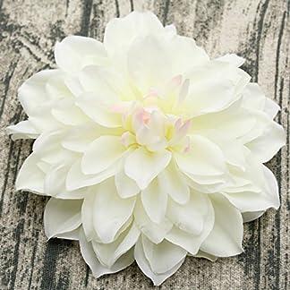 ZTTLOL 15Cm Cabezas de Flor de Seda Grandes Cabezas Artificiales de la Dalia para Hacer la Guirnalda de la Puerta o la Pared de la Flor