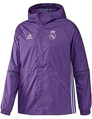 adidas Real Madrid Cf Allw - Chaqueta para hombre, color morado / blanco, talla L