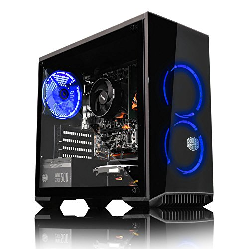 ADMi GAMING PC (Intel Pentium G4560 3.5Ghz, Nvidia GTX 1050Ti 4GB Graphics Card, HDMI, 8GB 2400MHz DDR4 , 1TB HDD, 500W Bronze PSU, Coolermaster Masterbox 3.1 Blue LED Gaming Computer Case, Windows 10, Wifi)