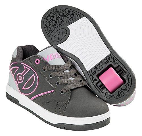 Heelys Propel 2.0 Schuhe grau-pink Mädchen Charcoal/Grey/Pink, 36.5 (Grau Schuhe Heelys)