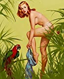 Berkin Arts Gil Elvgren Giclée Leinwand Prints Gemälde Poster Reproduktion(Pin Up Girls 50)